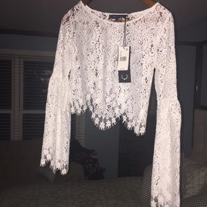 EUC For Love ♥️&🍋 Lemons FLL White Lace Bell SzXS